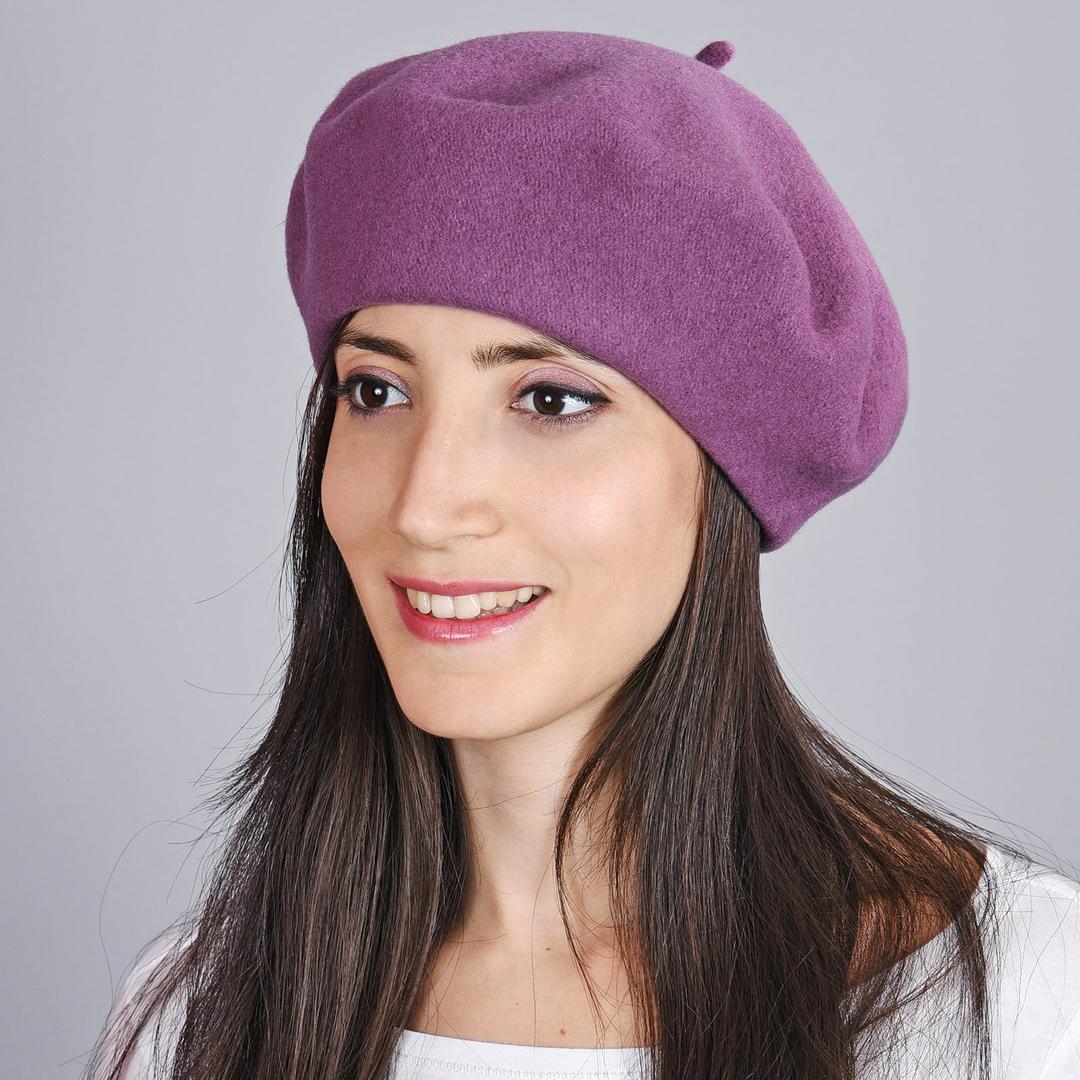 Béret femme Mauve lilas, feutre de laine - Fabrication UE 9abfc2df232