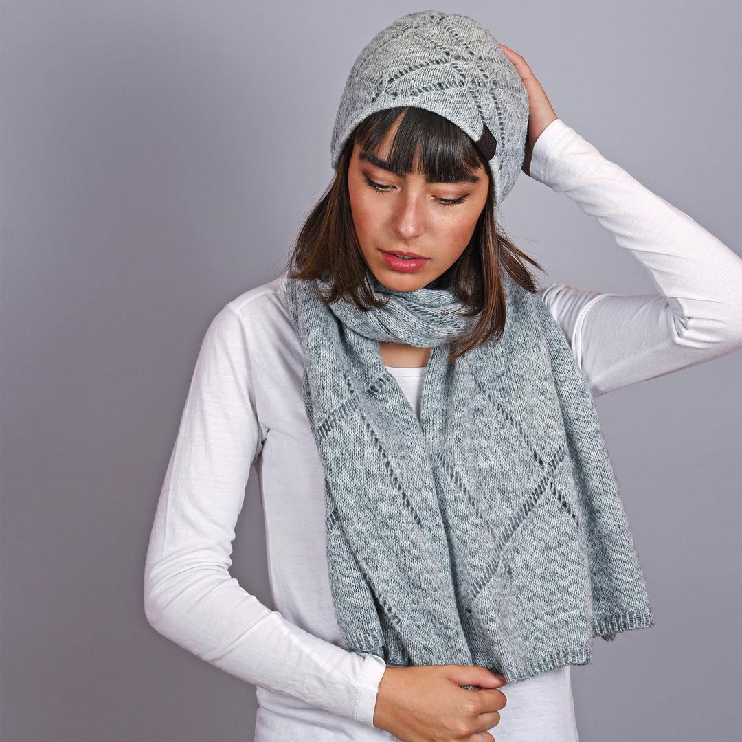 66dd250d461f Echarpe femme et bonnet gris Adama - Made in Europe
