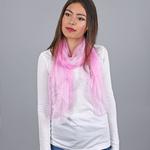 Foulard mousseline soie <br/>Rose dragée uni