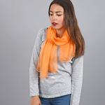 Foulard mousseline soie <br/>Mandarine uni