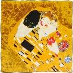 Carré de soie SilkArt <br/>Gustav Klimt <br/>Baiser