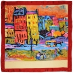 Carré de soie SilkArt <br/>Wassily Kandinsky <br/>Case à Monaco