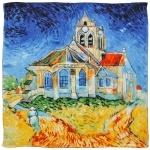 Carré de soie SilkArt <br/>Van Gogh <br/>L&#039;église d&#039;Auvers