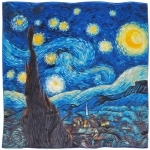 Carré de soie SilkArt<br/> Van Gogh <br/>Nuit étoilée