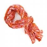 Chèche pur coton Pash orange