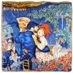 Carré de soie SilkArt <br/>Auguste Renoir <br/>Danse à la campagne