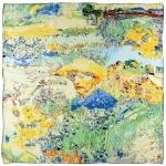 Carré de soie SilkArt <br/>Hommage à Van Gogh