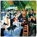 Carré de soie SilkArt <br/>Auguste Renoir <br/>Bal au moulin la Galette