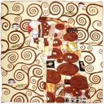 Carré de soie SilkArt <br/>L&#039;arbre de vie CREME <br/>Gustave Klimt