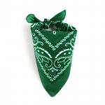 Foulard bandana vert foncé