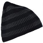 Bonnet court rayures Noir et anthracite