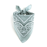 Foulard bandana gris clair