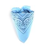 Foulard bandana bleu layette