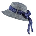 Chapeau femme mezcla Chiné marine