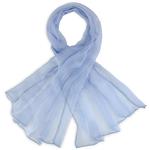 Foulard mousseline soie <br/>Bleu fumée uni