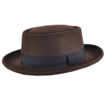 Chapeau Pork Pie réglable <br/>STACY Marron