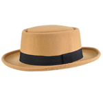 Chapeau Pork Pie réglable <br/>STACY Beige