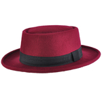 Chapeau Pork Pie réglable <br>STACY Bordeaux