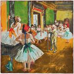 Carré de soie SilkArt <br/>Edgar Degas <br/>La classe de danse