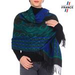 Châle FRISAFLOR <br/>Bleu et Vert