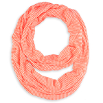 Foulard tube Rayures ORANGE FLUO