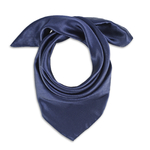 Foulard carré Eazy <br/>Bleu marine