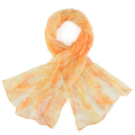 Foulard mousseline de soie <br/>Vahina orange