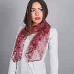 foulard mousseline de soie Prairie Pourpre