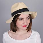 Chapeau Trilby Femme <br/>BEIGE - Larges bords