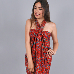 Paréo coton Ravena Rouge