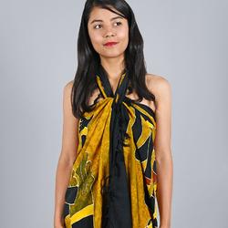 Paréo Batik Ethnik Dance tribale beige