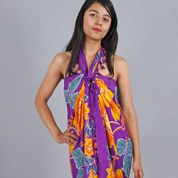 Paréo Batik new fleur Violet