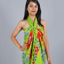 Paréo Batik New fleur Vert