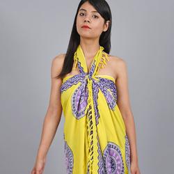 Paréo Batik Padma JAUNE