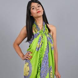 Paréo Batik Padma VERT