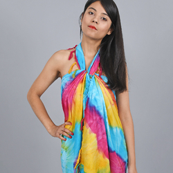 Paréo Batik Tie Die Multicolore