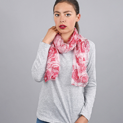 Foulard mousseline de soie <br/>Spicy rouge