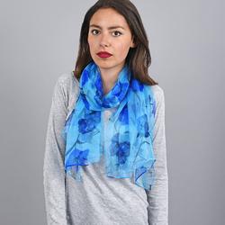 Foulard mousseline de soie <br/>Holla bleu