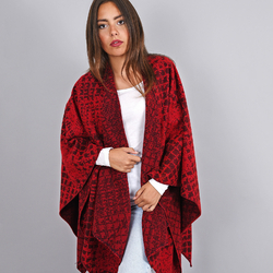 Poncho Twist Rouge
