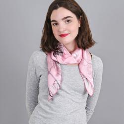 Carré de soie Premium Cotonnade Rose