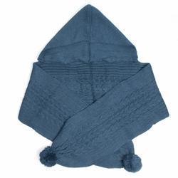 Echarpe à capuche Bleu