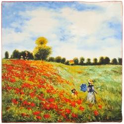 Carré de soie SilkArt <br/>Claude Monet <br/>Les Coquelicots