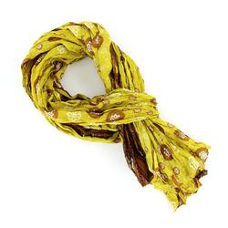 Chèche pur coton Knob jaune