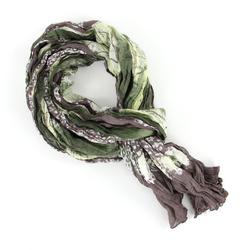 Chèche pur coton Friz vert kaki