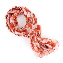 Chèche pur coton Fowl orange