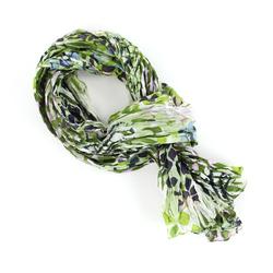 Chèche pur coton Peeble vert
