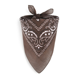 Foulard bandana marron
