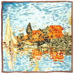 Carré de soie SilkArt <br/>Claude Monet <br/>Régates à Argenteuil