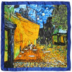Carré de soie SilkArt <br/>Van Gogh <br/>Café de nuit