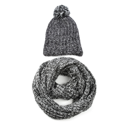 Snood et bonnet ample NOIR